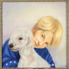 picture Марина Ефремова: Портрет Никиты с Долли