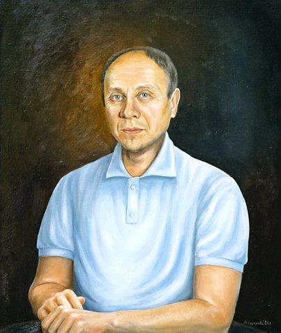 picture Марина Ефремова: Портрет Юрия Каюрова. 2011. Холст, масло